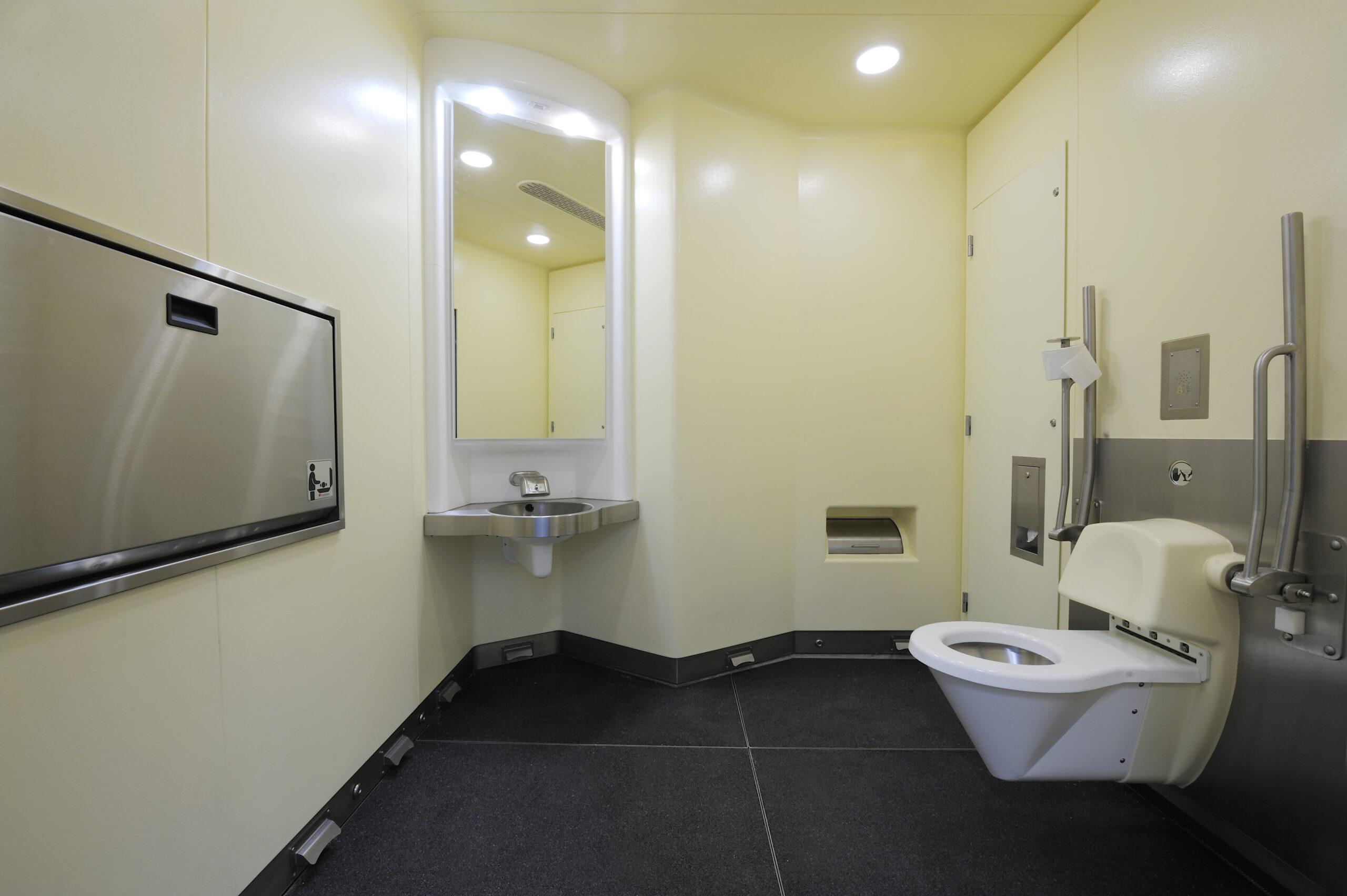 De toiletunit van SaniTronics in Zweden.