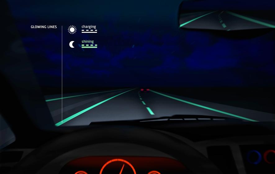 Smart Highway Dynamic Lines. Beeld door Roosegaarde & Heijmans